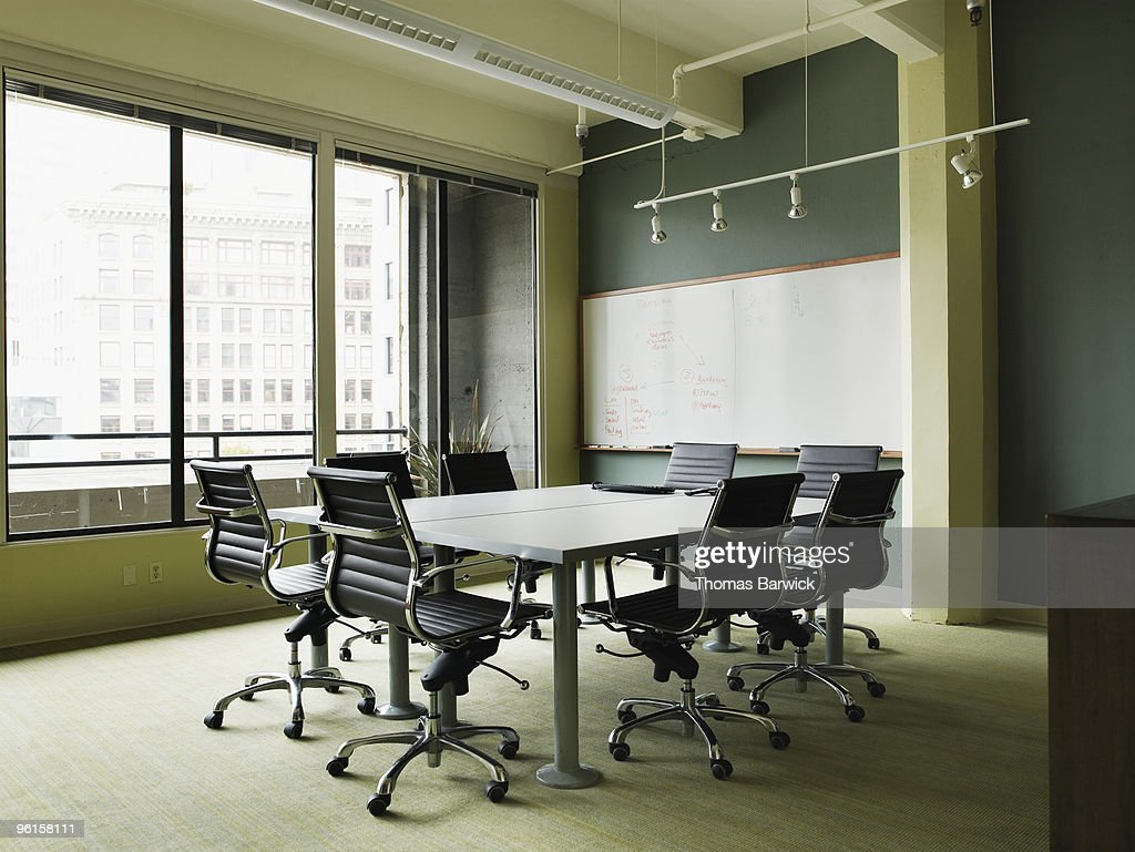 Empty conference room table : Stock Photo