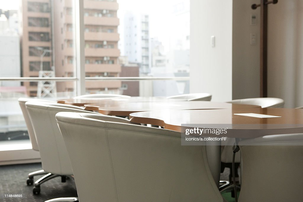 Empty conference room, Tokyo Prefecture, Honshu, Japan : Stock Photo