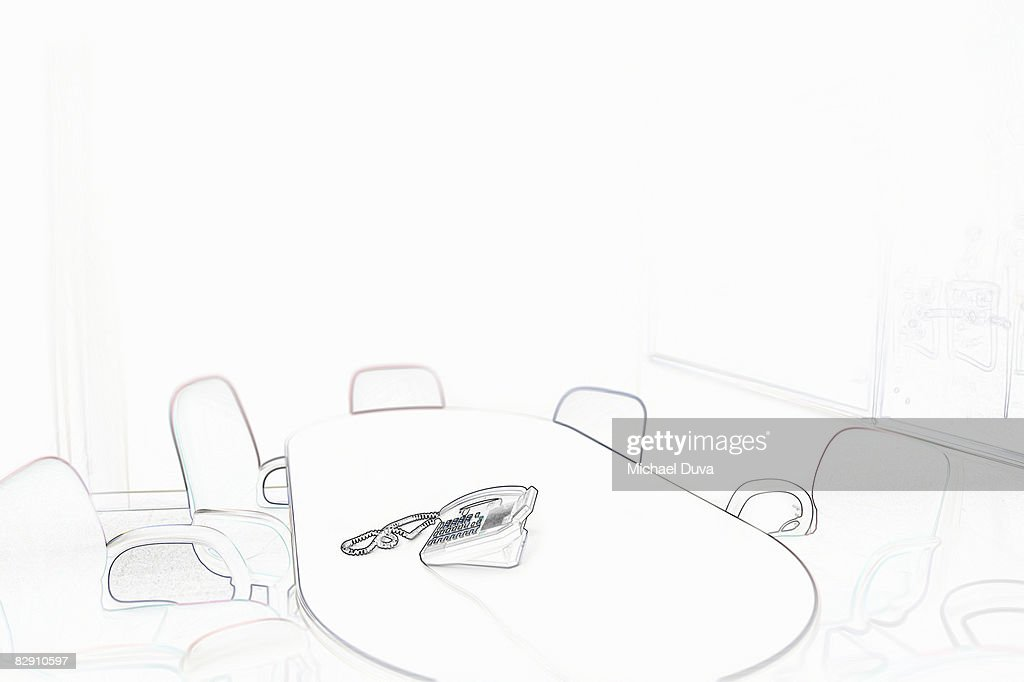 empty conference room with telephone : Stock Photo