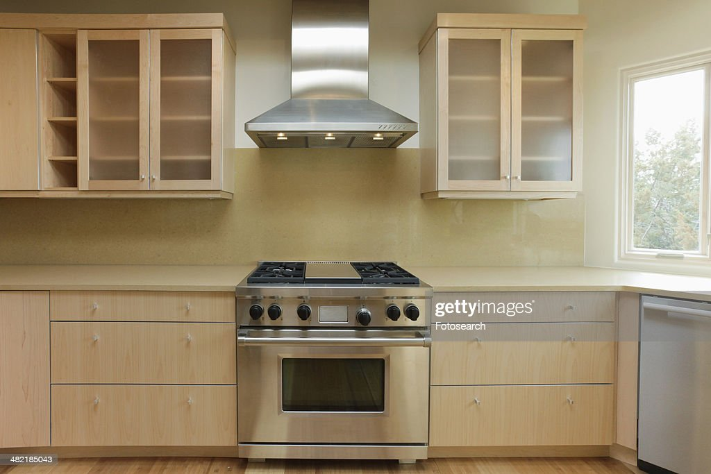 Empty contemporary kitchen