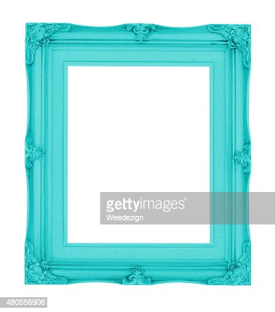 Empty contemporary vintage frame with vibrant color isolated : Stock Photo