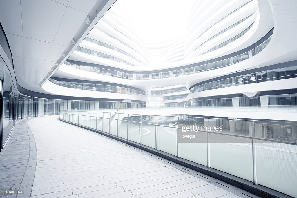Leere Korridor in das moderne Bürogebäude : Stock-Foto