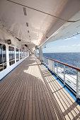 Empty Cruise Ship Deck