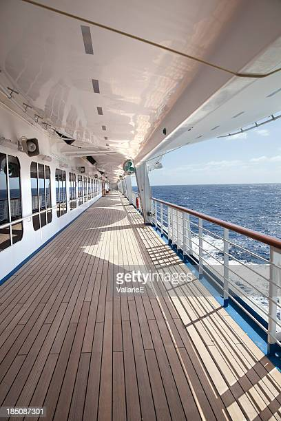 Empty Cruise Ship Deck