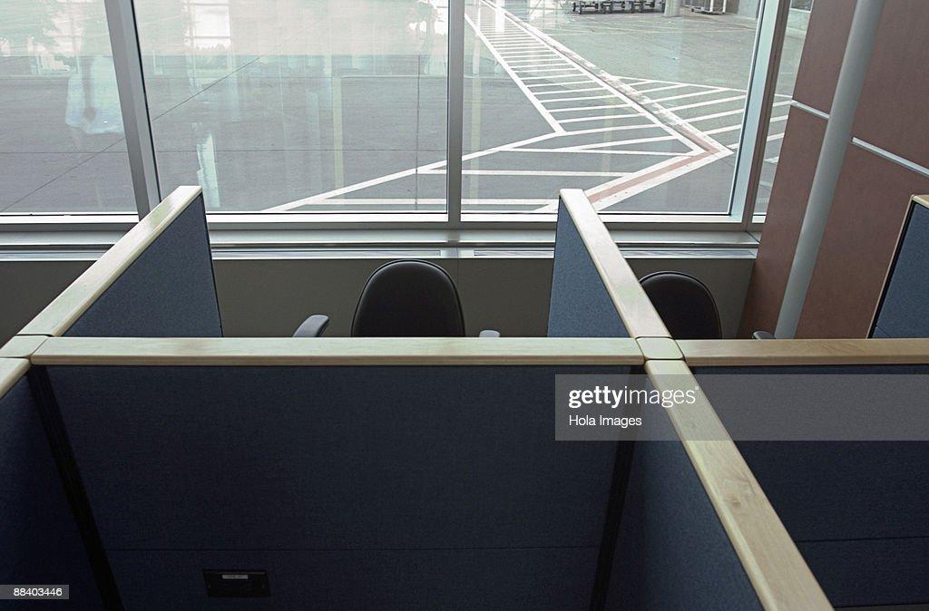 Empty cubicles : Stock Photo