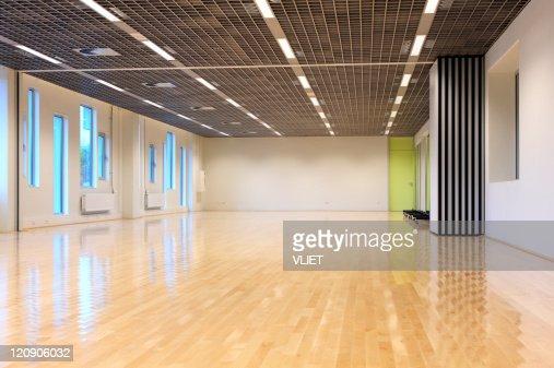 Empty dance studio