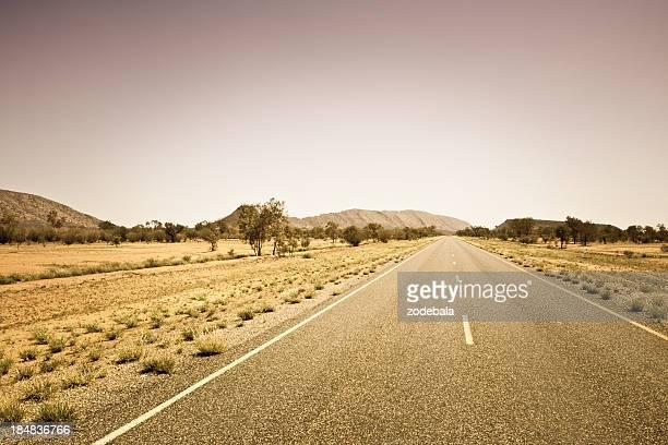 Empty Desert Road,Australia
