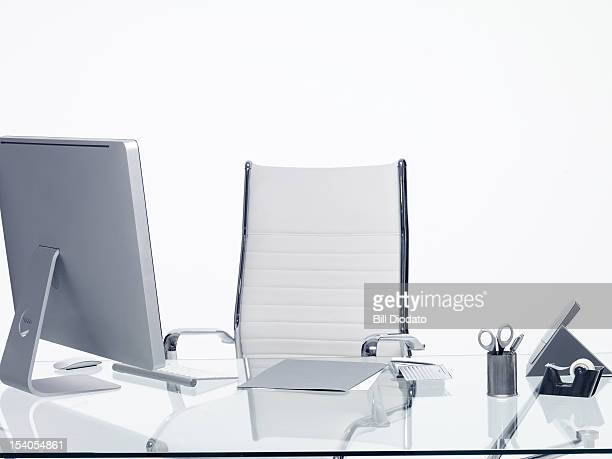 empty desk at the workplace