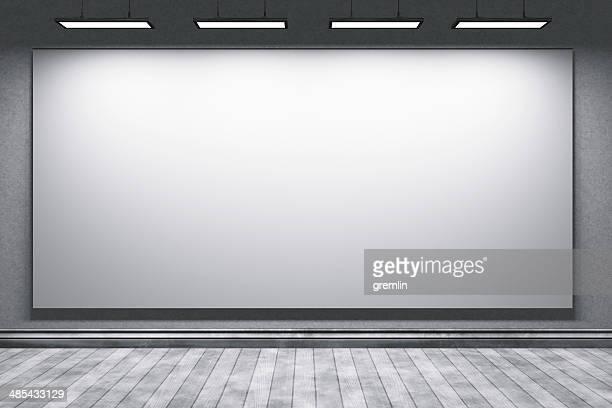 Leere Bildung office Zimmer mit großen Leinwand