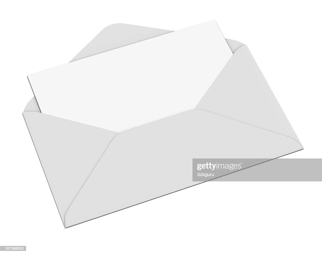 Empty Envelope and Letter : Stock Photo