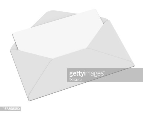 Empty Envelope and Letter : Stockfoto