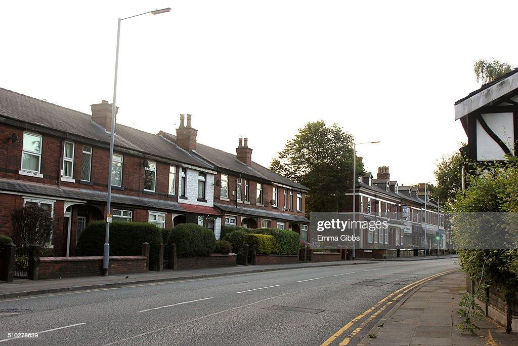 Empty European Street in UK no traffic