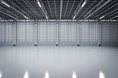 3d rendering empty factory interior or empty warehouse