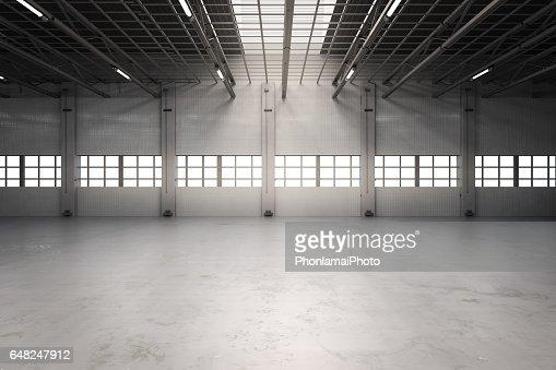 empty factory interior : Stock Photo