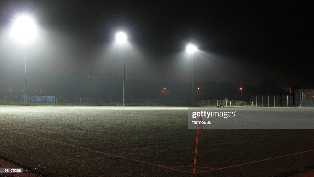 Empty Football (Soccer) Field : Stock Photo