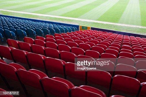 Empty football stadium : Stock Photo