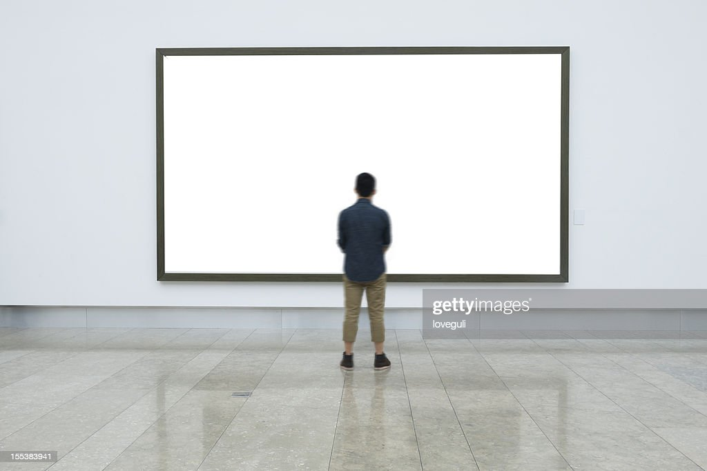 empty frame in art museum : Stock Photo