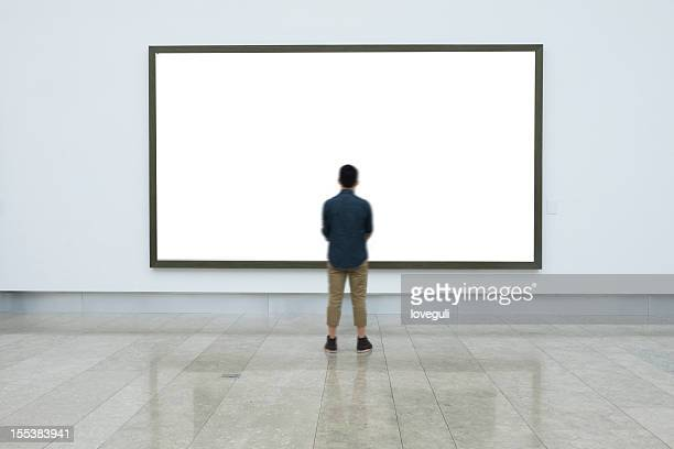 empty frame in art museum