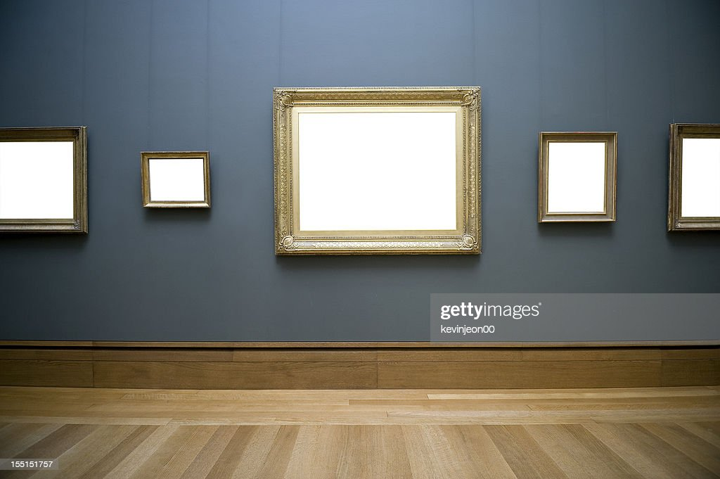 Empty frame on wall : Stock Photo