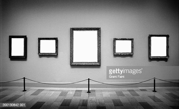 Empty frames in art gallery (Digital Composite, B&W)