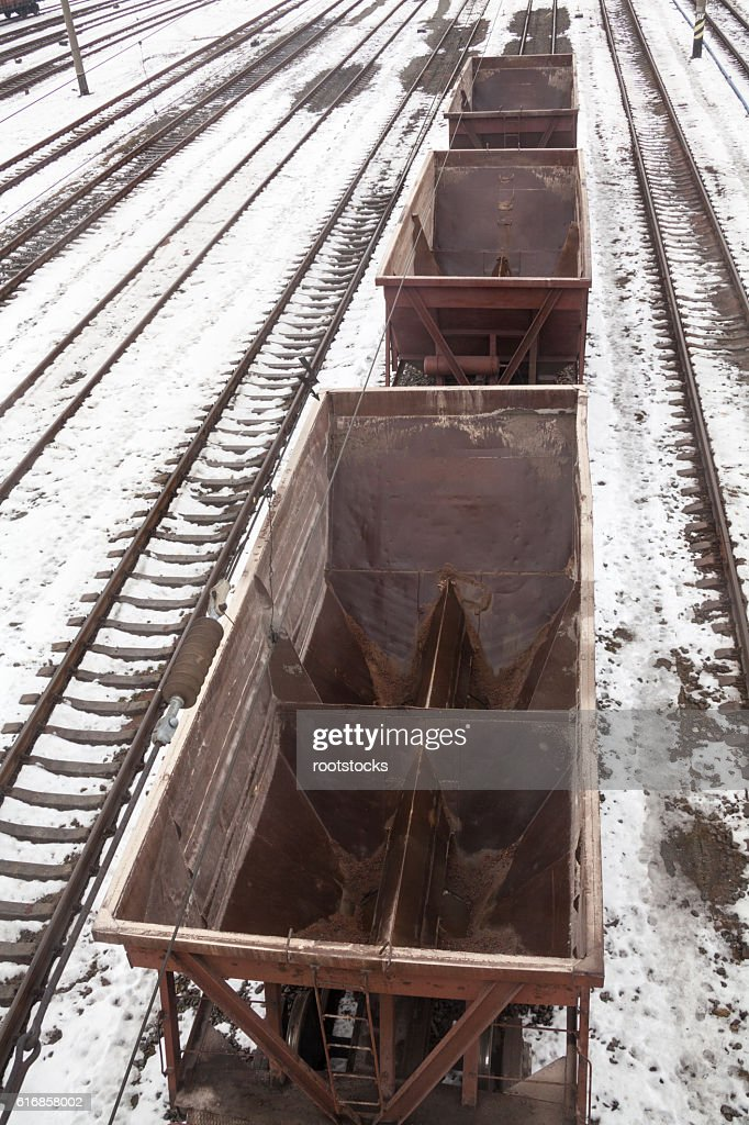Empty freight wagons : Stock Photo