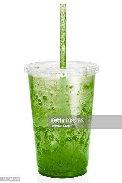 Empty fresh fruit juice / smoothie plastic cup