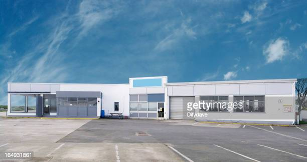 Empty Garage Car Showroom And Forecourt