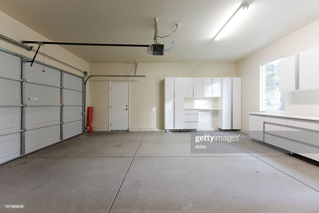 Empty Garage Closed Stock Photo Getty Images