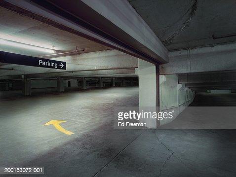 Empty garage : Stock Photo