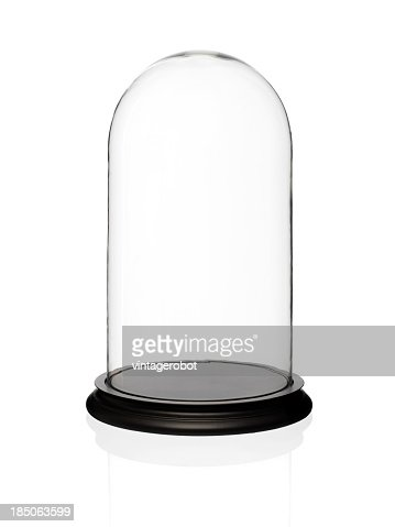 Empty glass display dome