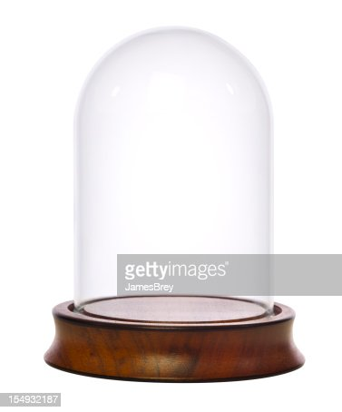 Empty Glass Dome Display Case, Dust Cover