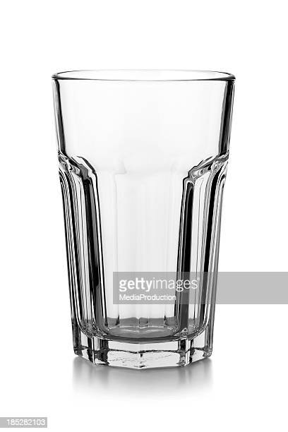 Empty Glass isolated on a white background with reflection