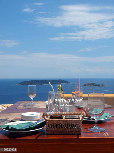Empty glasses & greek islands