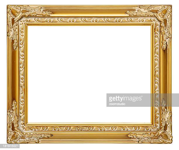 Empty gold frame [with clipping paths]