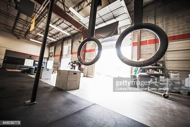 Empty gym gym with open door