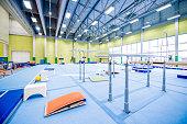 Empty Gymnastics Gym at Day.