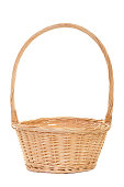 An Empty Natural Wicker Handled Basket ready to fill!