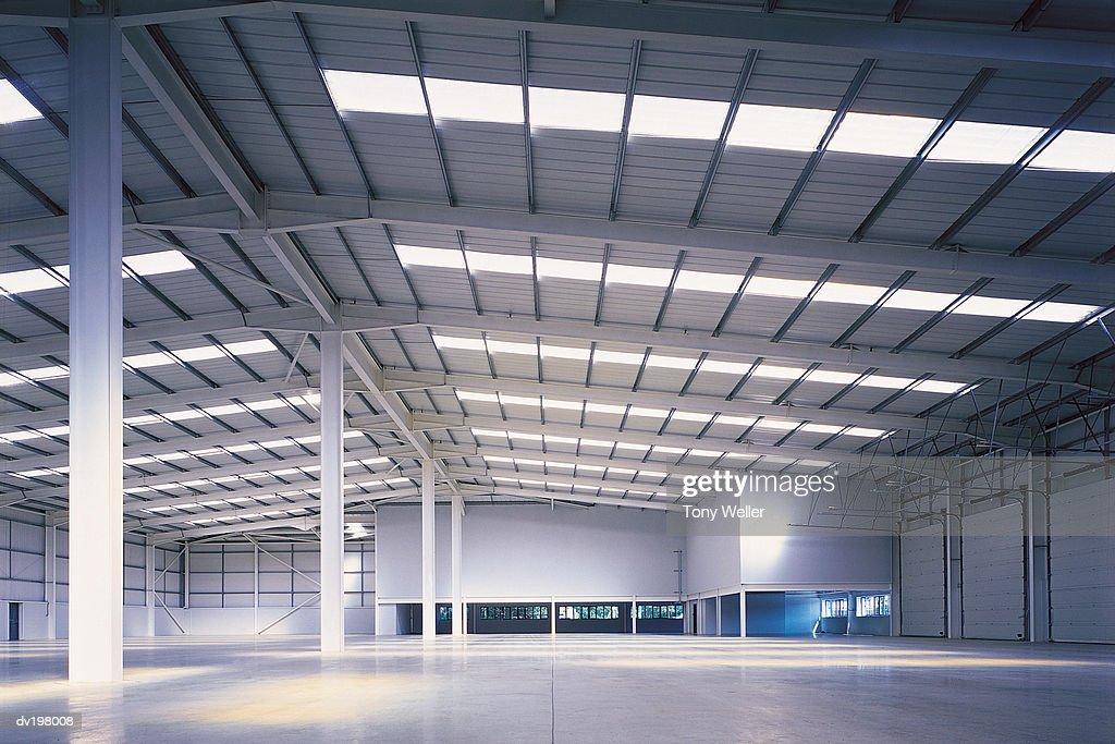 Empty hangar : Stock Photo