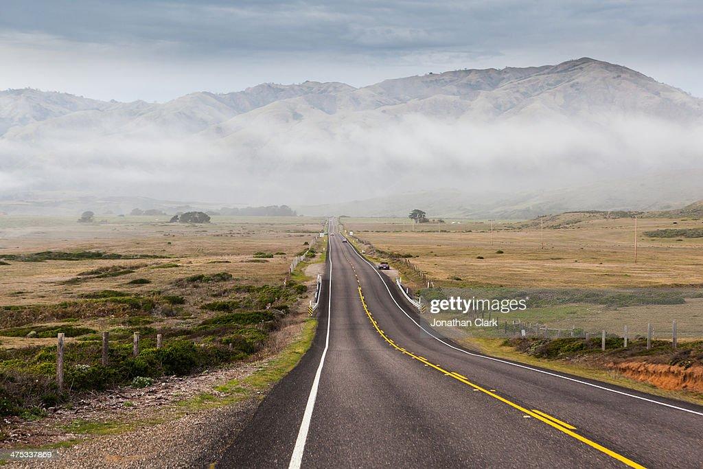 Empty Highway a long the Big Sur coastline : Stock Photo