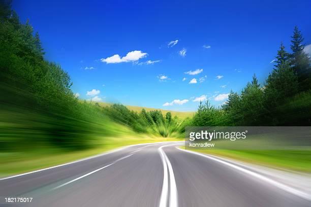 Leere Highway-abstrakte Konzept high-speed-Internetzugang