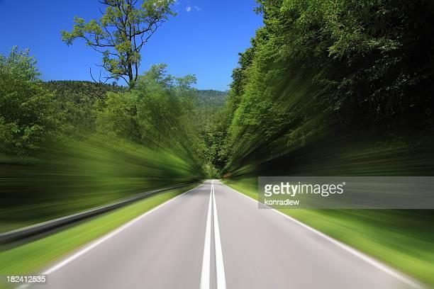 Empty Highway - high speed