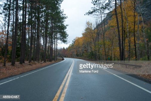 Empty highway in autumn