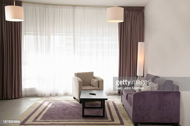 empty hotel suite