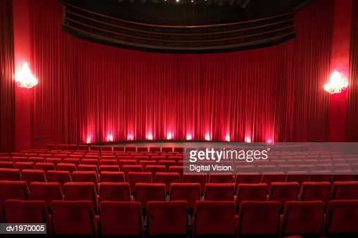 Empty Illuminated Theatre : Foto stock