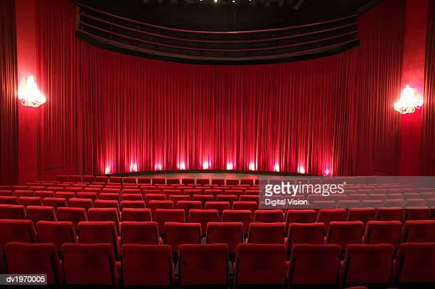 Empty Illuminated Theatre
