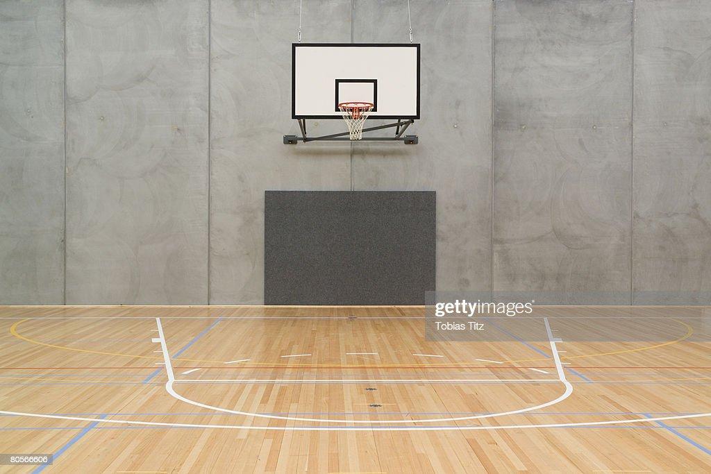 Empty Indoor Basketbal...