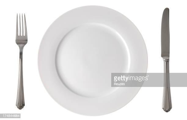 Empty kitchen plate