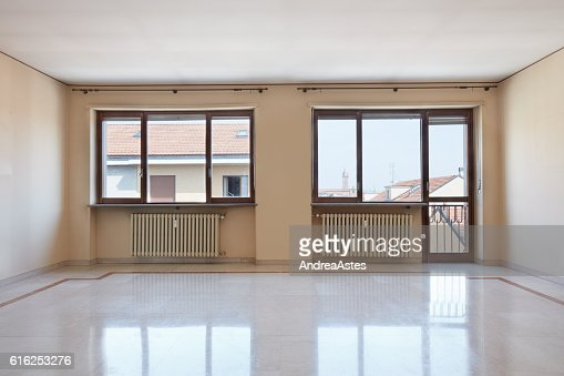 Empty large room interior with marble floor : Foto de stock