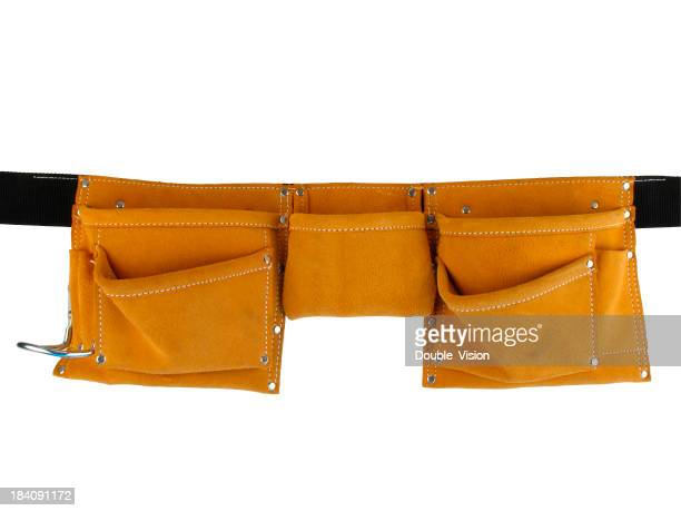 Empty Leather Tool Belt Isolated on a White Background