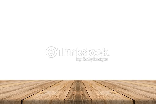 Empty Light Wood Table Top Isolate On White Background Stock Photo Thinkstock